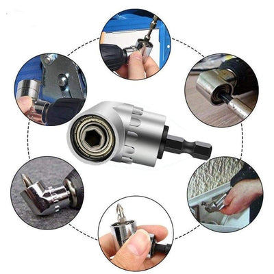 105 Angled Screwdriver Adapter with 1/4'' Hex Bit Socket