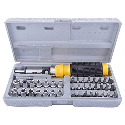 41pc Ratcheting Wrench Screwdriver Set