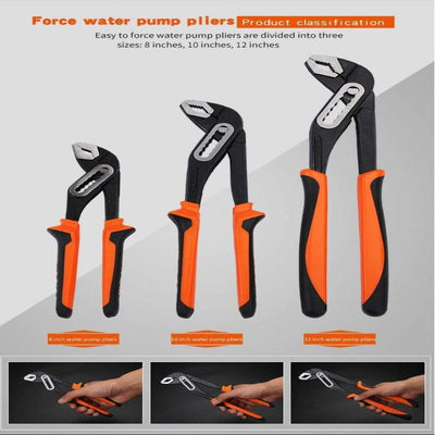 "8""/10""/12"" Multifunctional Water Pump Pliers"