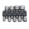 9pcs Magnetic Nut Driver Socket Adapter Set