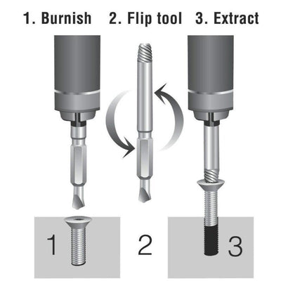 4pc Damaged Screw Extractor Set