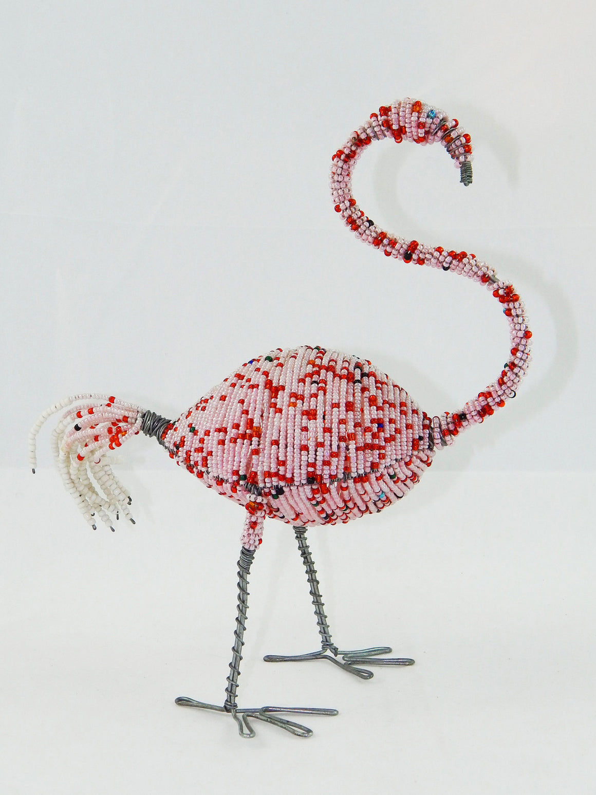Maasai Beaded Pink Flamingo