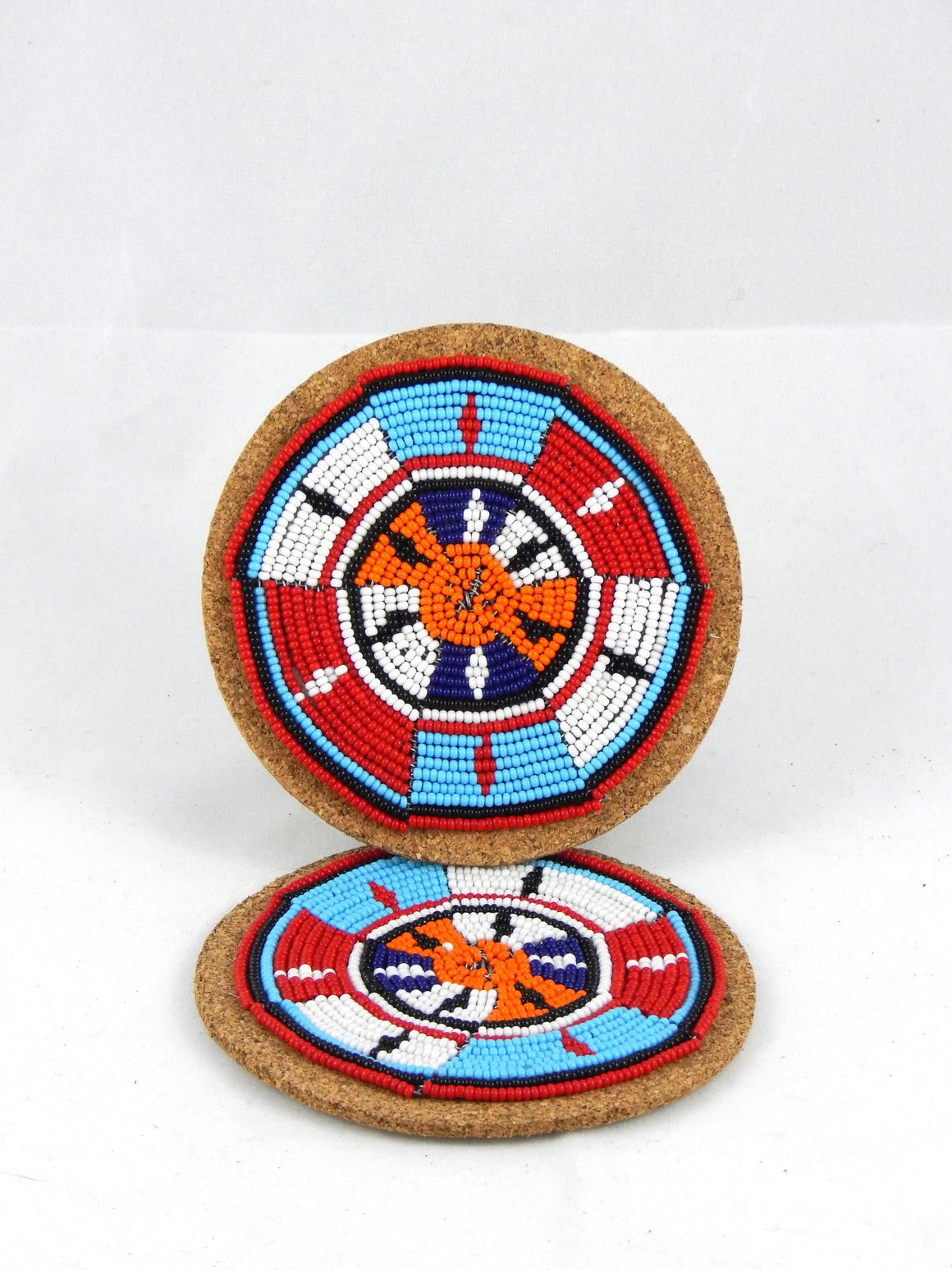 Maasai Beaded Coasters