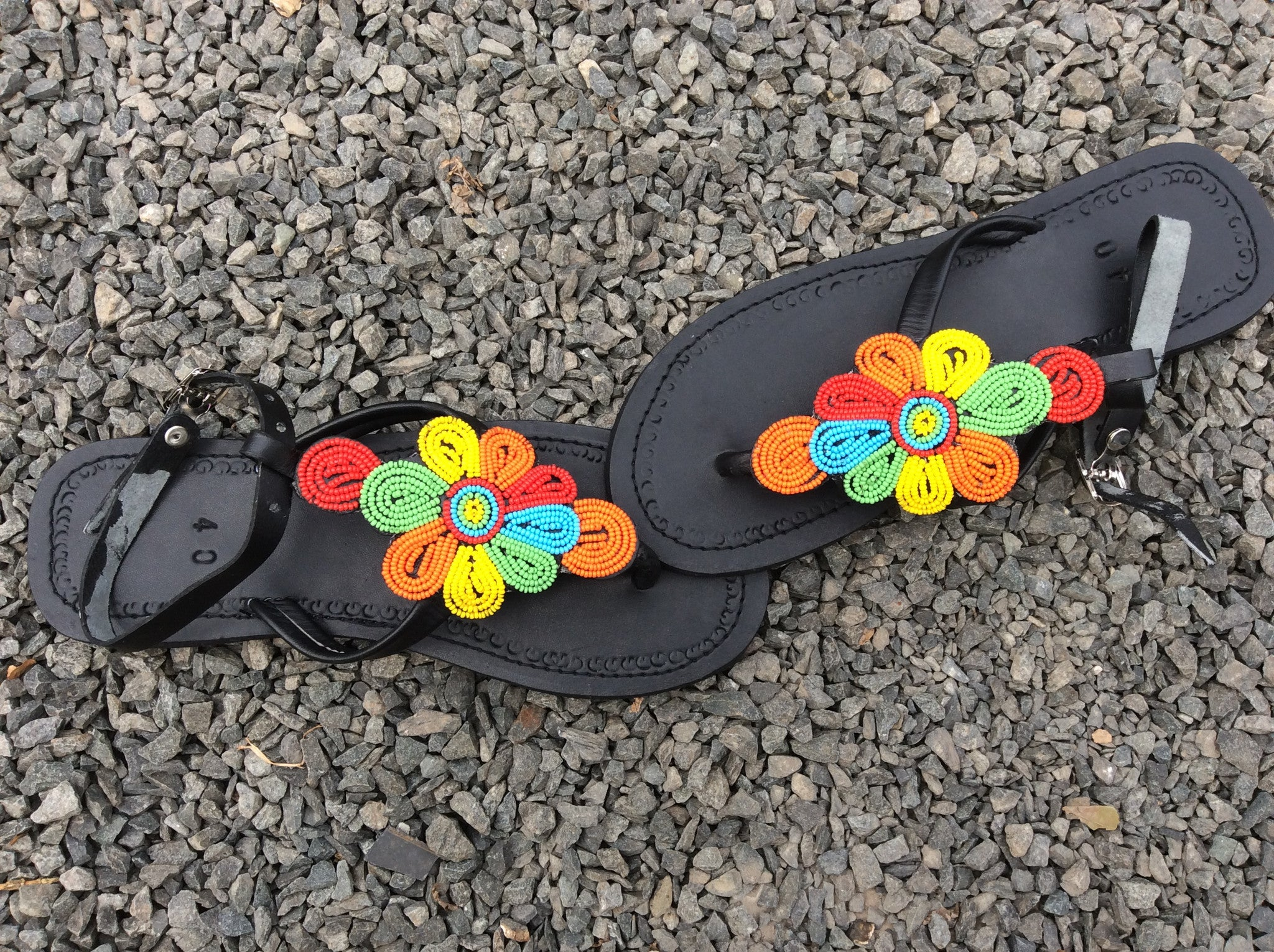 Sandals Beaded Hand Leather Hipster Design 3Tl1cFKJ