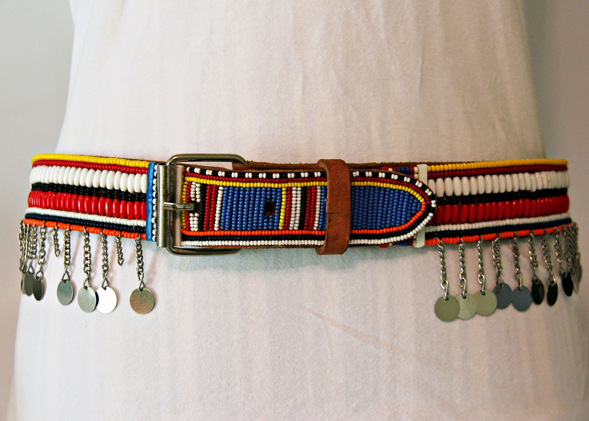 Maasai Beaded Leather Belts