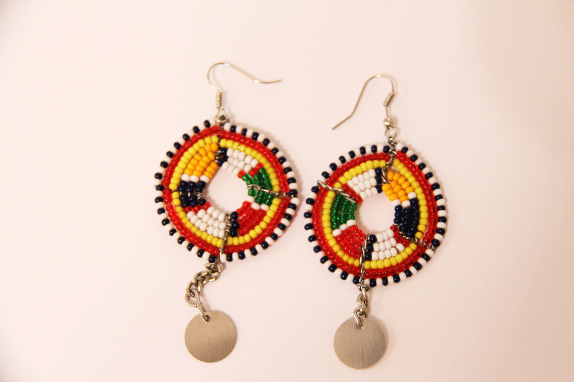 Maasai Wedding Necklace Style Earrings