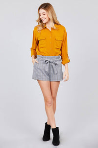 Winnie Solid Woven Top | More Colors