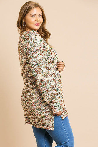 Reese Curvy Multi Color Pullover | More Colors