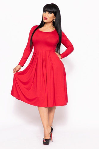 Diana Curvy Midi Dress | More Colors