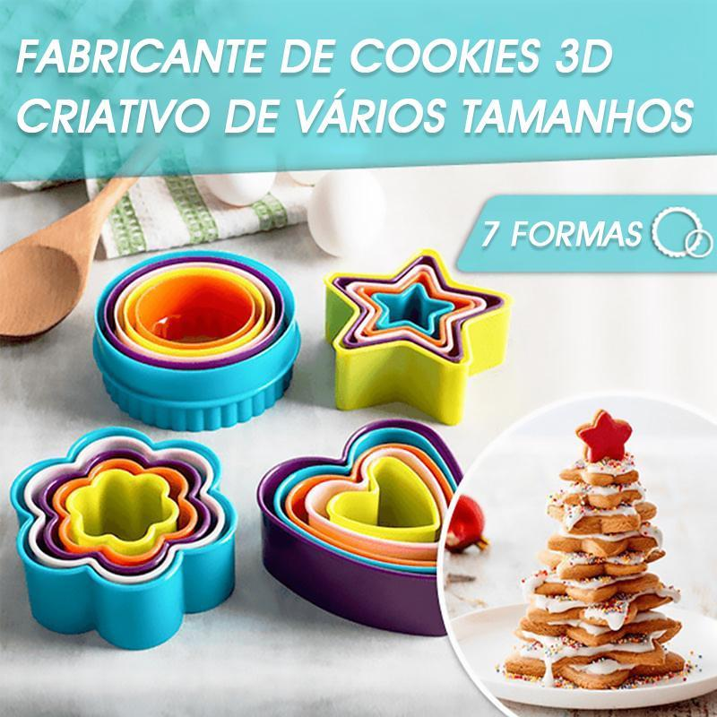 Molde De Cozimento Do Mousse Do Bolo Do Biscoito 3D Criativo