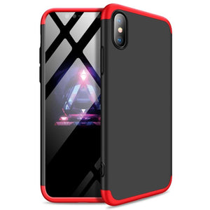 Case Funda 3 en 1 para iPhone - Negro Rojo