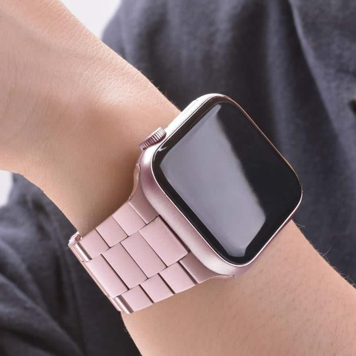 Correa Pulso Apple Watch Three Links - Rose