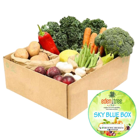 Eden Tree Fruits and Vegetables - Sky Blue Box
