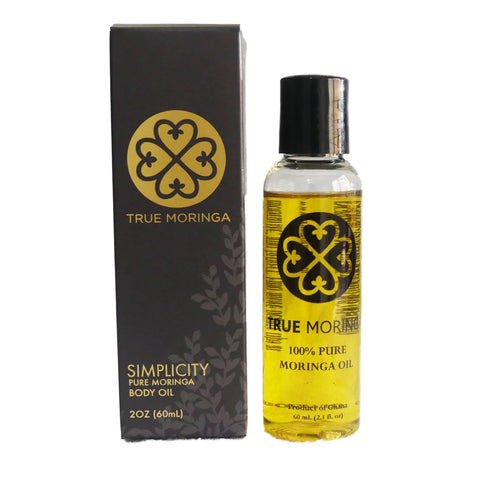 Simplicity (Unscented) True Moringa Oil Face Hair Body (60ml)