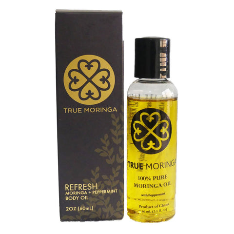 Refresh (Peppermint) - True Moringa Oil Face Hair Body (60ml)