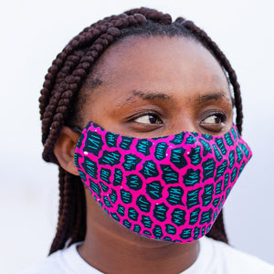 Hero Collections Black and Pink Patterned Nose Mask