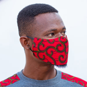 Hero Collections All Red Nose Mask