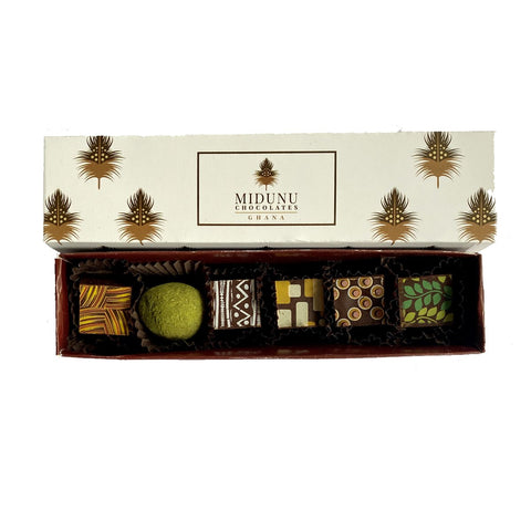Midunu Chocolates 6 piece box of truffles