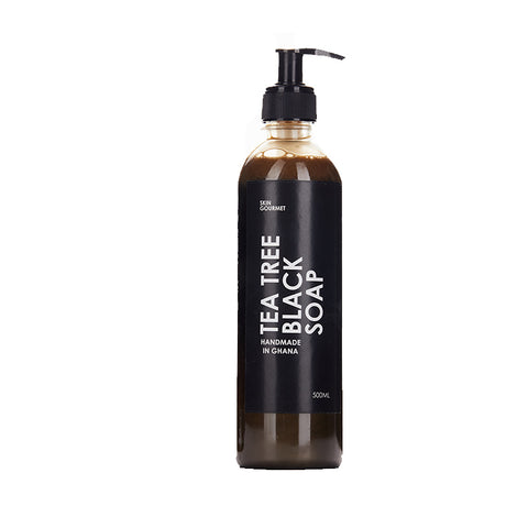 Tea Tree Black Soap with Wild Honey (250ml)