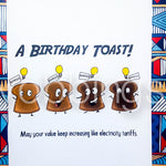 Birthday Card - A Birthday Toast
