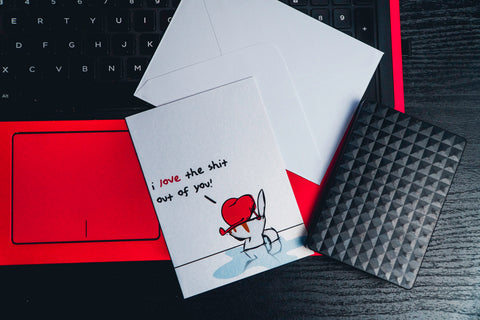 Love Themed Gift Card - Love the shit out of you
