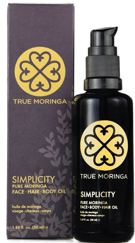 Unscented True Moringa Oil Hair Face Body  LUXURY EDITION - (Pick Size)