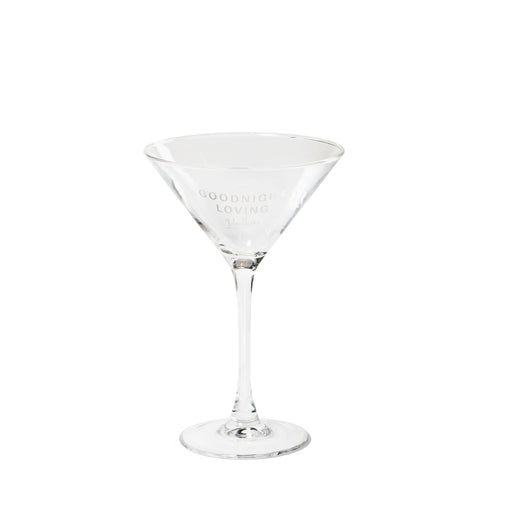 GLV Etched Martini Glass