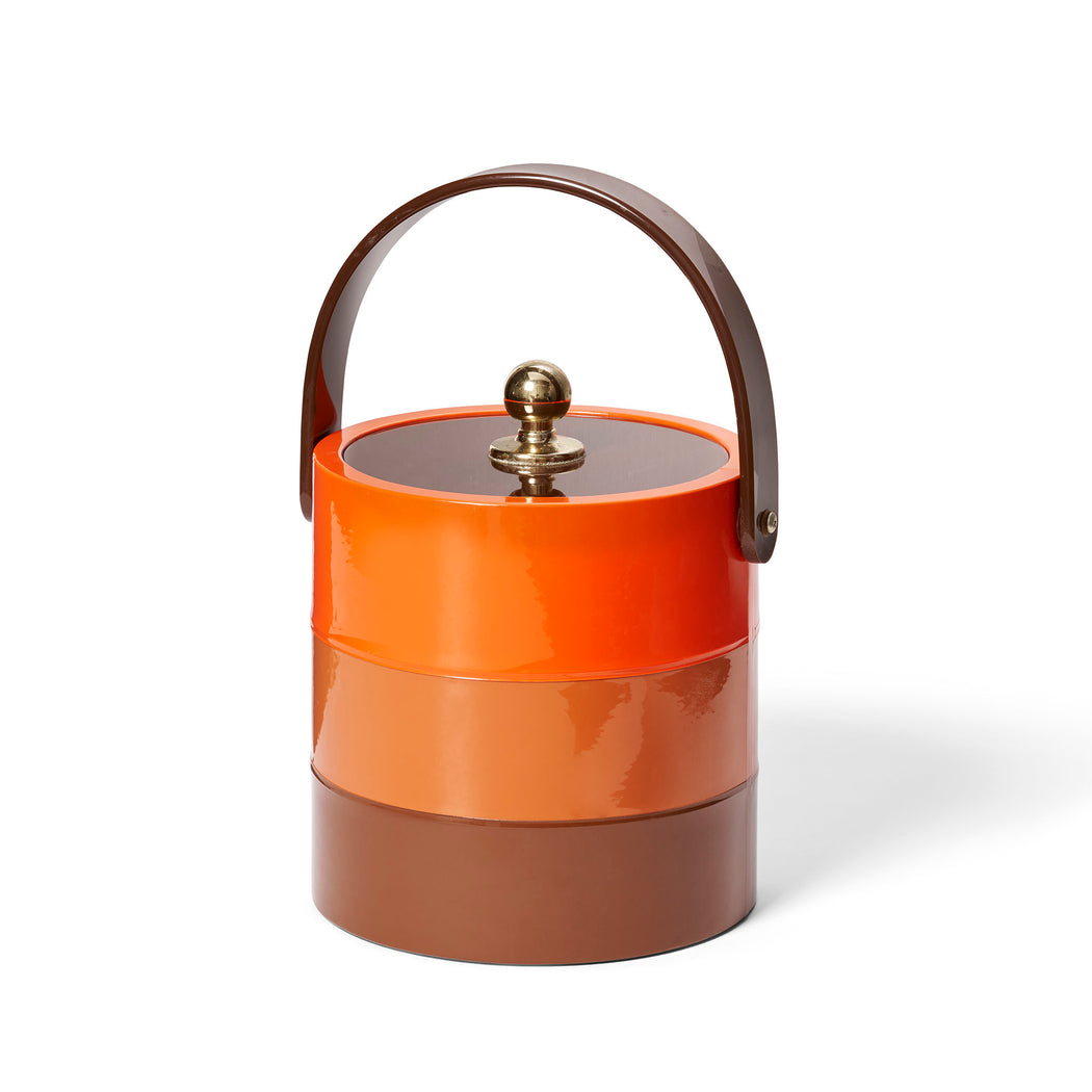 Vintage Ice Bucket MCM Orange Bands