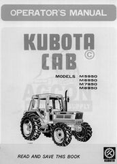 Kubota M5950 M6950 M7950 M8950 Cab Operators Manual