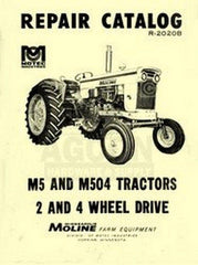 Minneapolis Moline M5 M504 Repair Parts Manual Catalog