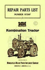 Minneapolis Moline Kombination Repair Parts List Manual
