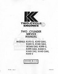 Kohler K399-2AX K440-2 K440-2AS K618-2 Service Manual