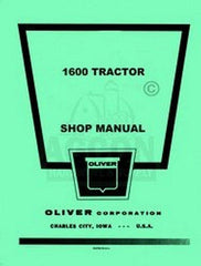 Oliver 1600 Tractor Shop Service Repair Manual