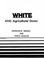White Oliver Model 4110 Agricultural Dozer Operators and Parts Manual