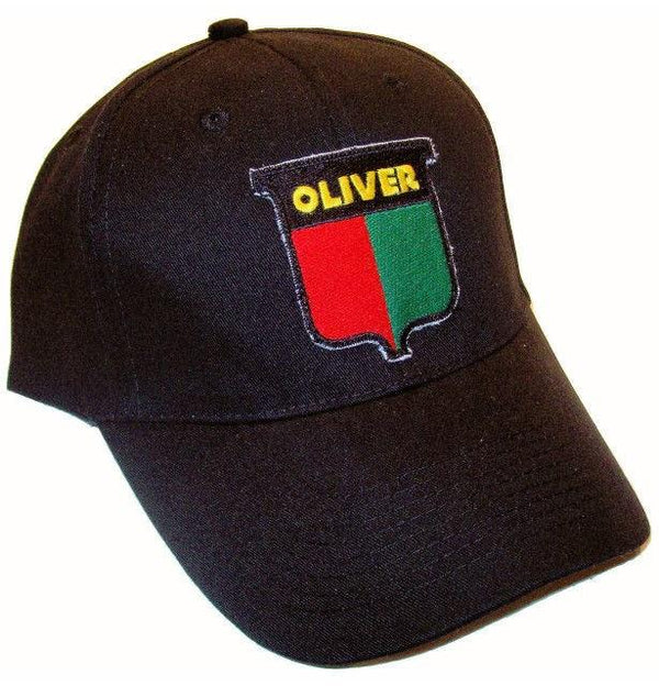 Oliver Vintage Logo Tractor 6 Panel Black Hat Cap Gift Fits Most