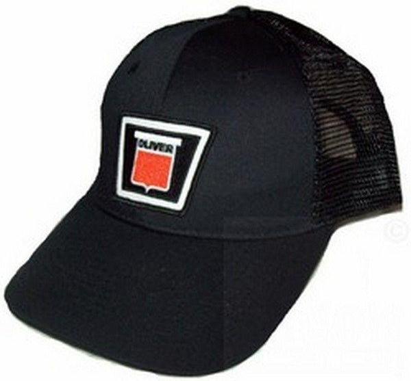 Oliver New Logo Tractor Black Mesh 6p Hat - Cap Gift