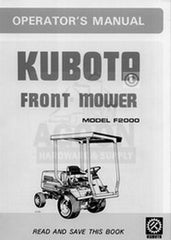 Kubota F2000 F-2000 Owners Operators Manual G-2750