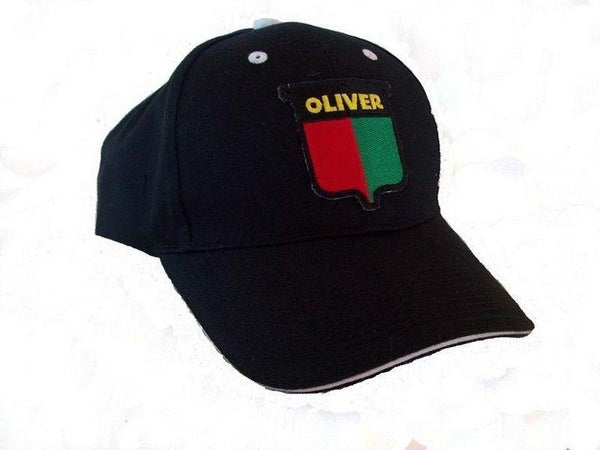 Oliver Vintage Logo Tractor Black with white Sandwich Brim 6 Panel Hat Cap Gift