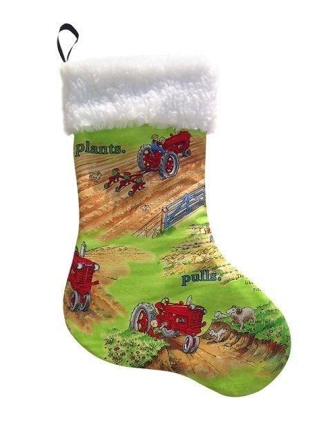 Lime Tractor Mac International Tractor Christmas Stocking Holiday Gift IH