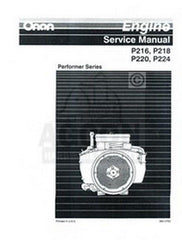 ONAN P220 P224 P-220 P-224 Performer Series Engine Service Shop Repair Manual
