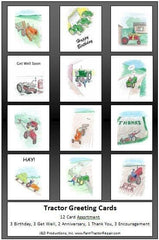 Tractor Greeting Cards Farmall Massey Chalmers Deere IH
