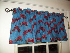 International Farmall H and F Series Tractor Blue Denim Window Valance Gift