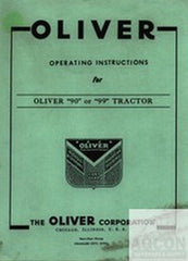 Oliver 90 & 99 Tractor Operator Instruction Manual