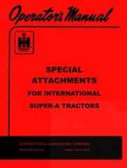 INTERNATIONAL FARMALL Super A Attachments Operar Manual