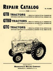 Minneapolis Moline G GTB GTBD GTC Repair Manual Cat