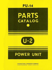 International Harvester Farmall McCormick U-2 U2 Power Unit Parts Catalog Manual