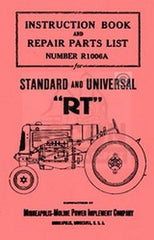 Minneapolis Moline RT Operators Owner Maintenance Manual
