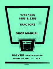 Oliver 1755 1855 1955 2255 Tractor Shop Service Manual