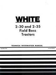 White 2-30 2-35 Field Boss Tractor Service Technical Shop Manual