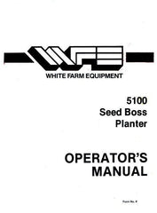 White Oliver 5100 Seed Boss Planter Operators Manual OL
